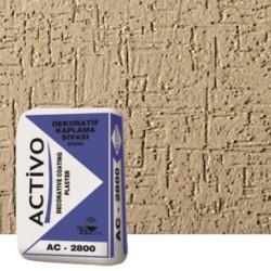 Activo Dekoratif Tekstüre Son Kat Beyaz Sıva (Çizgi Desenli) AC 2800