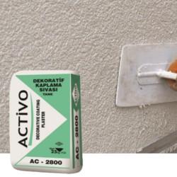 Activo Dekoratif Tekstüre Son Kat Beyaz Sıva (İnce Dokulu) AC 2800